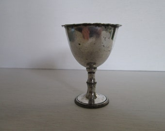 Silver egg cup, vintage egg cup