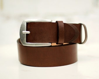 Free shipping! Brown belt, brown leather belt, brown men's belt, classic leather belt, brown leather belt, mens leather belt
