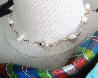 """Squiggle Necklace.   A new """"Twist""""."""