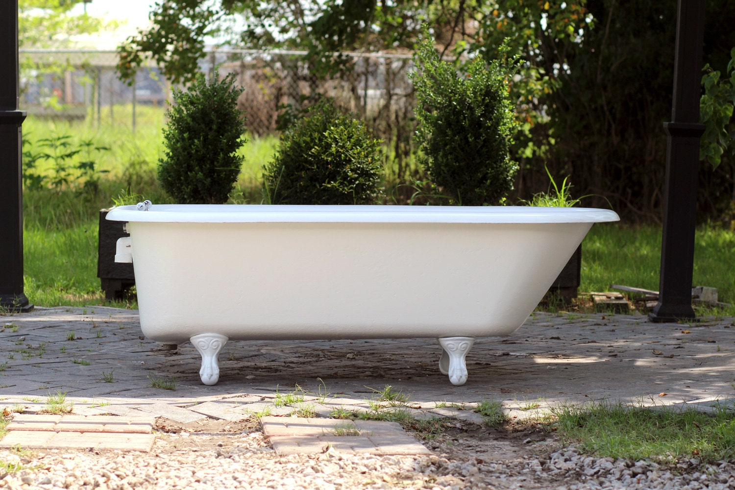 large 5 5 antique 1924 refinished clawfoot bathtub by. Black Bedroom Furniture Sets. Home Design Ideas
