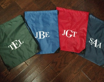 Personalized Monogrammed Drawstring Backpack!