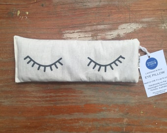 Sleepy Eyes Eye pillow filled with organic lavender and Australian brown rice.