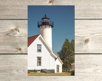 West Chop Lighthouse Photography Print, Marthas Vineyard Art, Cape Cod Wedding Gift