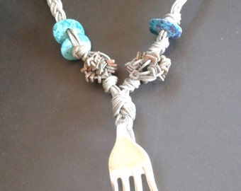 Fork pendant necklace