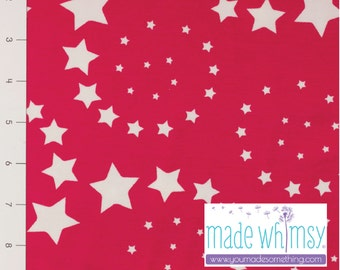 Dizzy Stars Fuchsia on Cotton Lycra Jersey