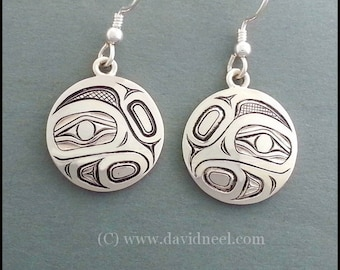 Hummingbird Earrings - Pacific Northwest Coast Native Indian