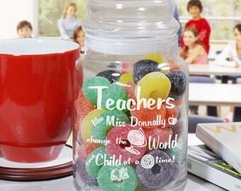 Personalized Teacher Treat Jar, Treat Jar