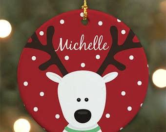 Personalized Christmas Tree Ornament, Ceramic