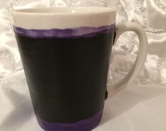 Unique Crafted Chalkboard Coffee Mug