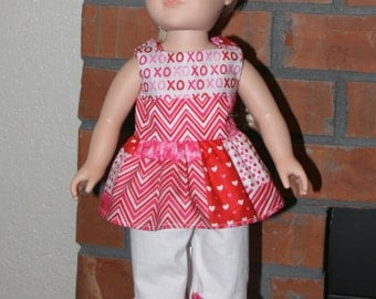 "Valentine's day inspired Set for 18"" doll like American Girl"