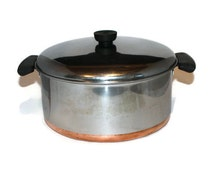 Pre-1968 Revere Ware Dutch Oven with Bakelite Knob and Handles