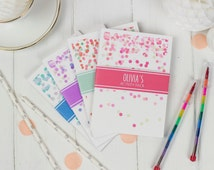Personalised Childrens Wedding Activity Pack Favour - A6 Confetti Design - with Pen