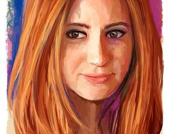 "Amy Pond Karen Gillan Companion Abstract Art Print, 13"" x 19"""