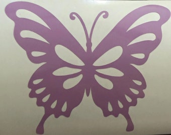 Butterfly Vinyl Decal- Car Decal- Yeti Decal- Butterfly - Butterfly Decal- Monogram Decal