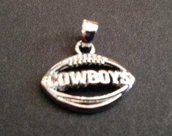 Dallas Cowboys Football Charm, Antique Silver, Football Charm, NFL Charm, Sports Charm