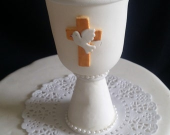 Communion Chalice, Communion Cake Topper, Baptism Cake Topper, First Communion, Baptism Cake, Chalice Favor, Communion Favor, Chalice Topper