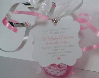 diy baby shower hand sanitizer favor kits with ribbon favor