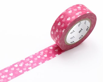 Pink Hearts Washi Tape • MT Masking Tape • MT ex Washi Tape • Washi Tape UK • Japanese Stationery • Heart Spot