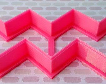 Chevron Zig Zag Open Ended Fondant Cutter