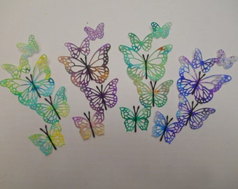 4 Multi colored Butterfly dies