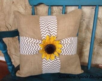 Burlap Decorative Pillow