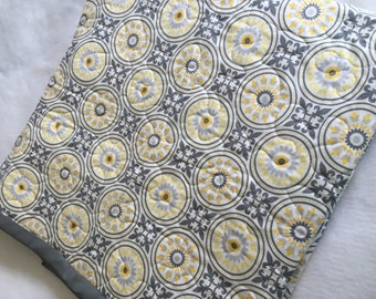 Yellow and Grey Gender Neutral Whole Cloth Quilt