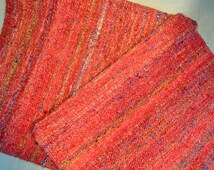 PAIR  Bold, textured cushion cover, handmade from recycled silk saris