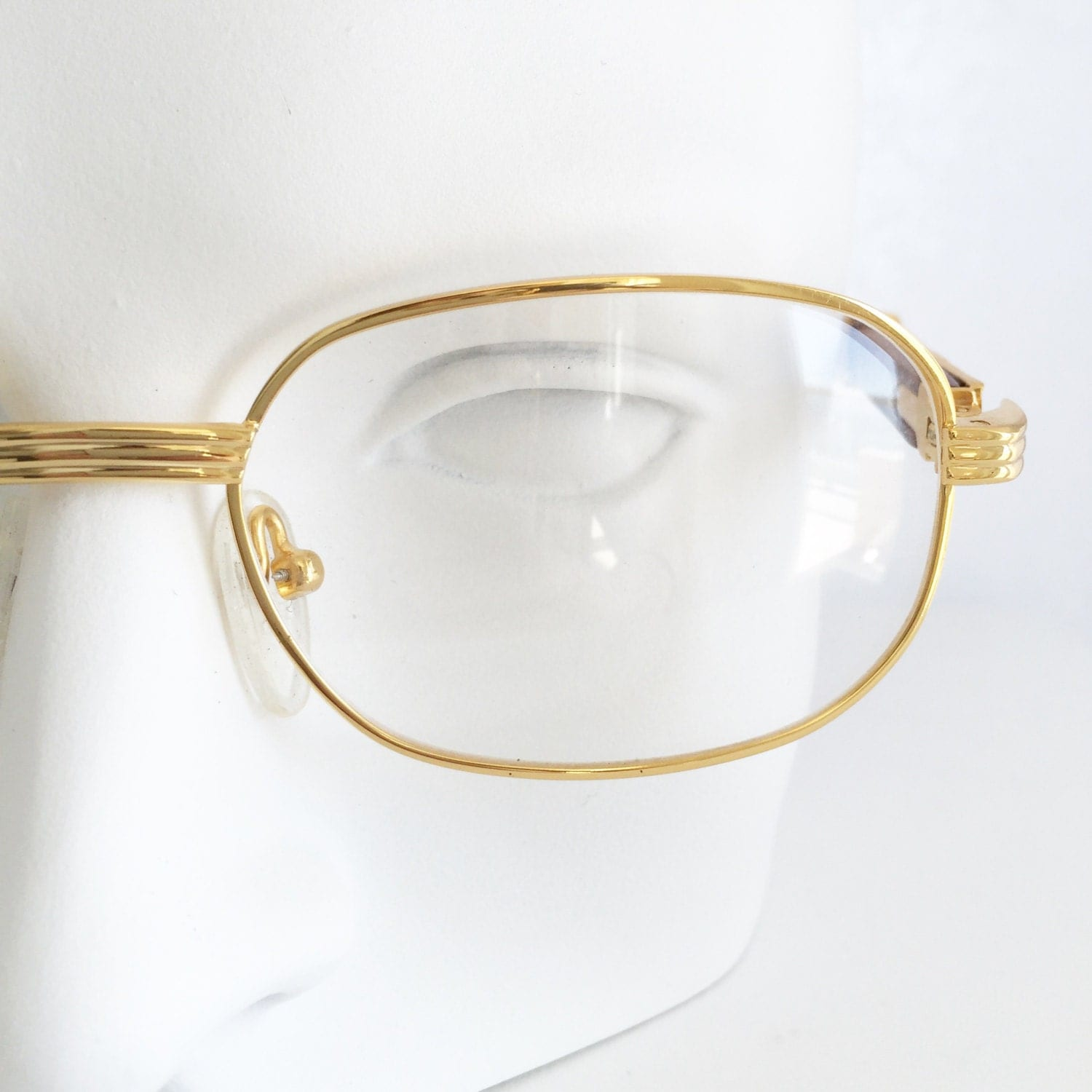 gold and wood eyewear gold plated square shape glasses by