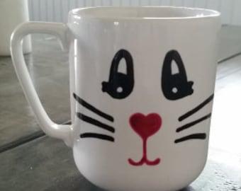 Bunny Mug with Custom Name