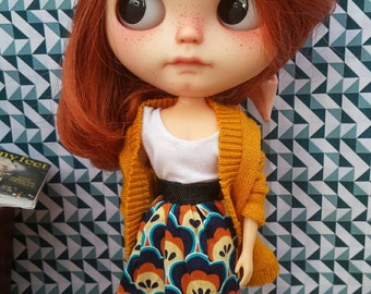 Blythe outfit - Skirt set by Pomipomari - OOAK