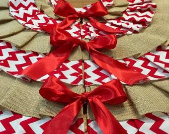 Chevron Christmas tree skirt