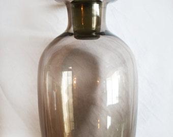 Smokey Grey, Mid Century, Glass Decanter