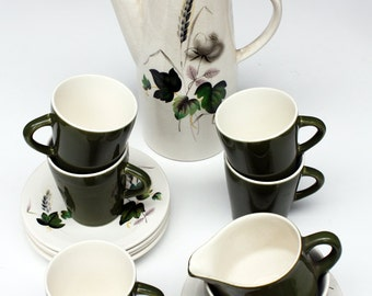 Royal Worcester - Palissy Coffee Set 'Shadow Rose'