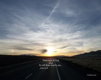 Open road with James 4:8 (8x10)