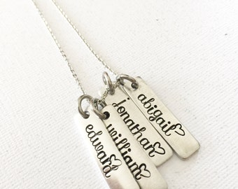 Mommy necklace - Hand stamped necklace - Name necklace - Gift for mother - Personalized jewelry - Name necklace - Mommy jewelry
