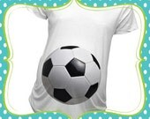 BR-40 Sports Fan Soccer Baby bump shirt Maternity or T-Shirts Christmas Gift Baby Shower Gift