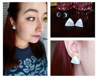 Mountain Earrings // Clay Earrings // Handmade