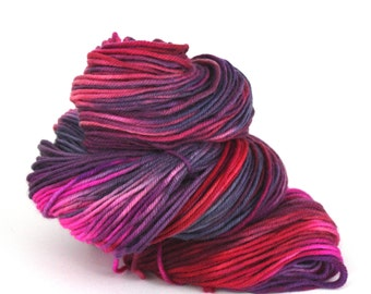 CLEARANCE:  Hand-Painted DK Superwash Merino Wool Yarn - The Bold and the Beautiful