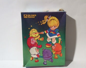 Vintage 1980s Rainbow Brite and Sprites 100 Piece Jigsaw Puzzle Complete!