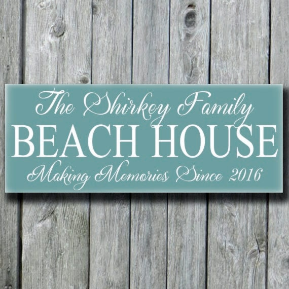 Personalized Beach House Plaques: Beach House Decor SignsPersonalized Beach House Family Name