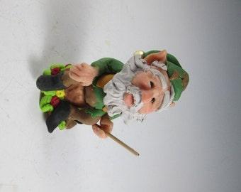 Elf, Polymer Elf, Handmade Elf, Clay Figure, Elf Figure, Fairy Garden Figure, Polymer Elf, OOAK Elf Figure, Polymer Fairy, Fae, Fairie