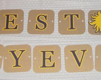 Best Day Ever banner / Tangled / Sun / Rapunzel Disney (601B)