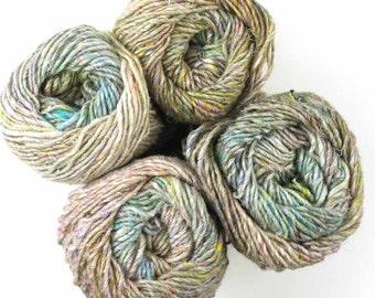 Noro Silk Garden Solo, color 01, Natural - mohair, wool, silk knitting yarn