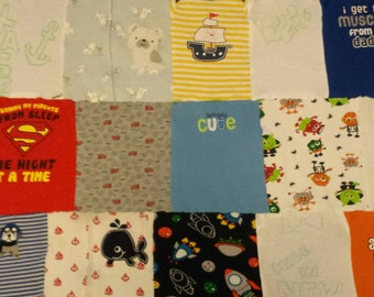 "40""×54"" Flannel Baby Clothes quilt"