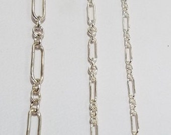 Sterling Silver Long and Short Chain, Pick your Size and Length, Price by the Foot