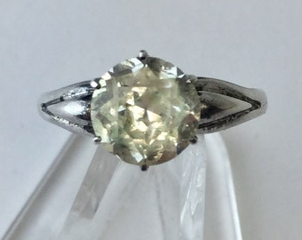 Sterling Silver Vintage Uncas Ring Glass/Simulant