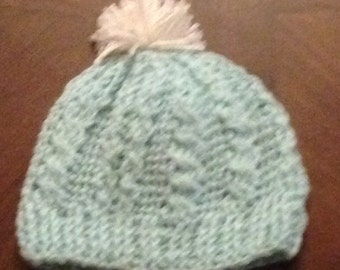 Baby blue infant hat