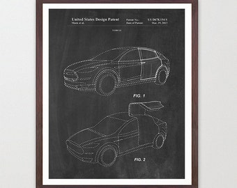 Tesla Model X Patent - Tesla Motors - Tesla Patent - Tesla Art - Tesla Poster - Electric Car - Electric Vehicle - Elon Musk - Tesla Wall Art