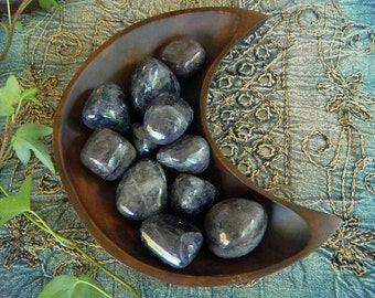 Rare Tumbled Iolite with Shimmers of Sunstone - An Excellent Stone for the Creative Process