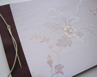 Hand-bound notebook with romantic floral pattern. B31